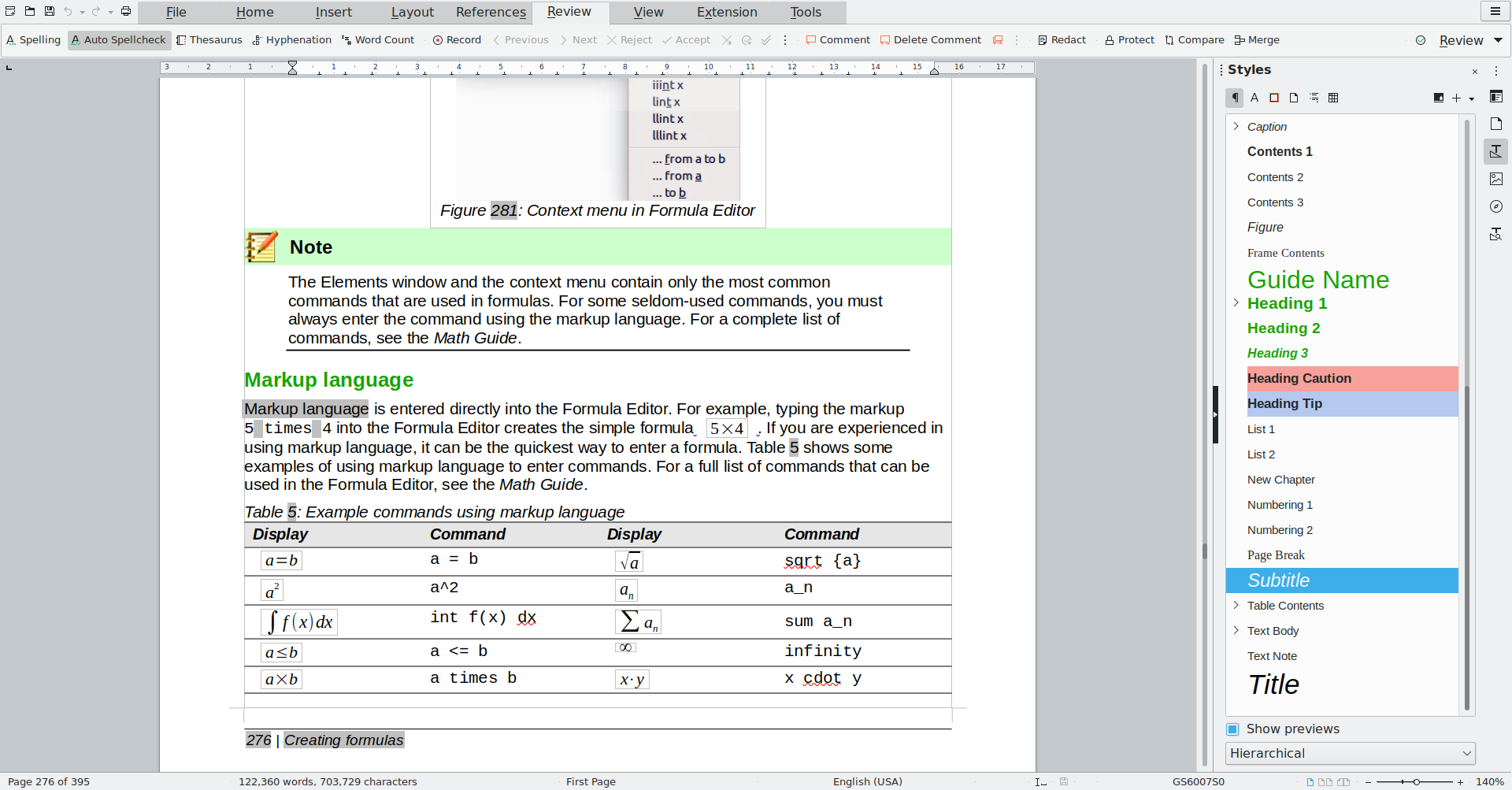 A screenshot of LibreOffice