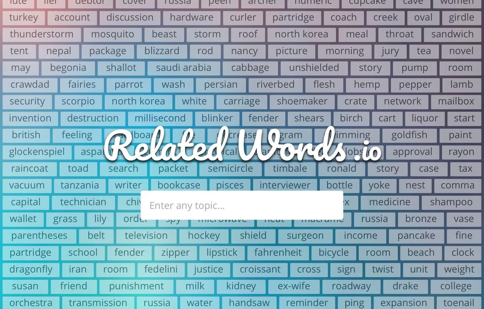 relatedwords.io website